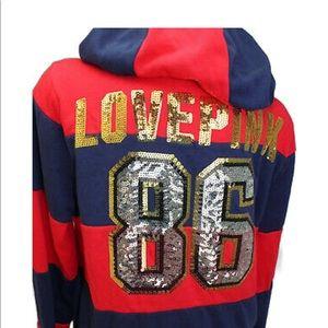 New Victoria's Secret PINK Sweatshirt Hoodie L NWT